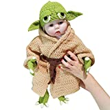 YUEFF Baby Yoda Infant Costume Hand-Knit Suit Novelty Toddler Yoda Halloween Costume Cosplay for 0-6 Month...