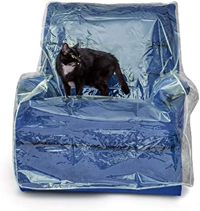 Best Besti Plastic Recliner Armchair Cover for Pets - Chair Protection from Dog and Cat Pee, Fur, Hair, B