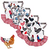 4 PCS Chicken Saddle Hen Saddle Hen Apron Chicken Jacket with Elastic Straps Feather Fixer Wing Back Protector for Poultry Care Accessories Hen Supplies