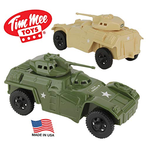 TimMee Recon Patrol Armored Cars - Plastic Army Men Scout Vehicles USA Made