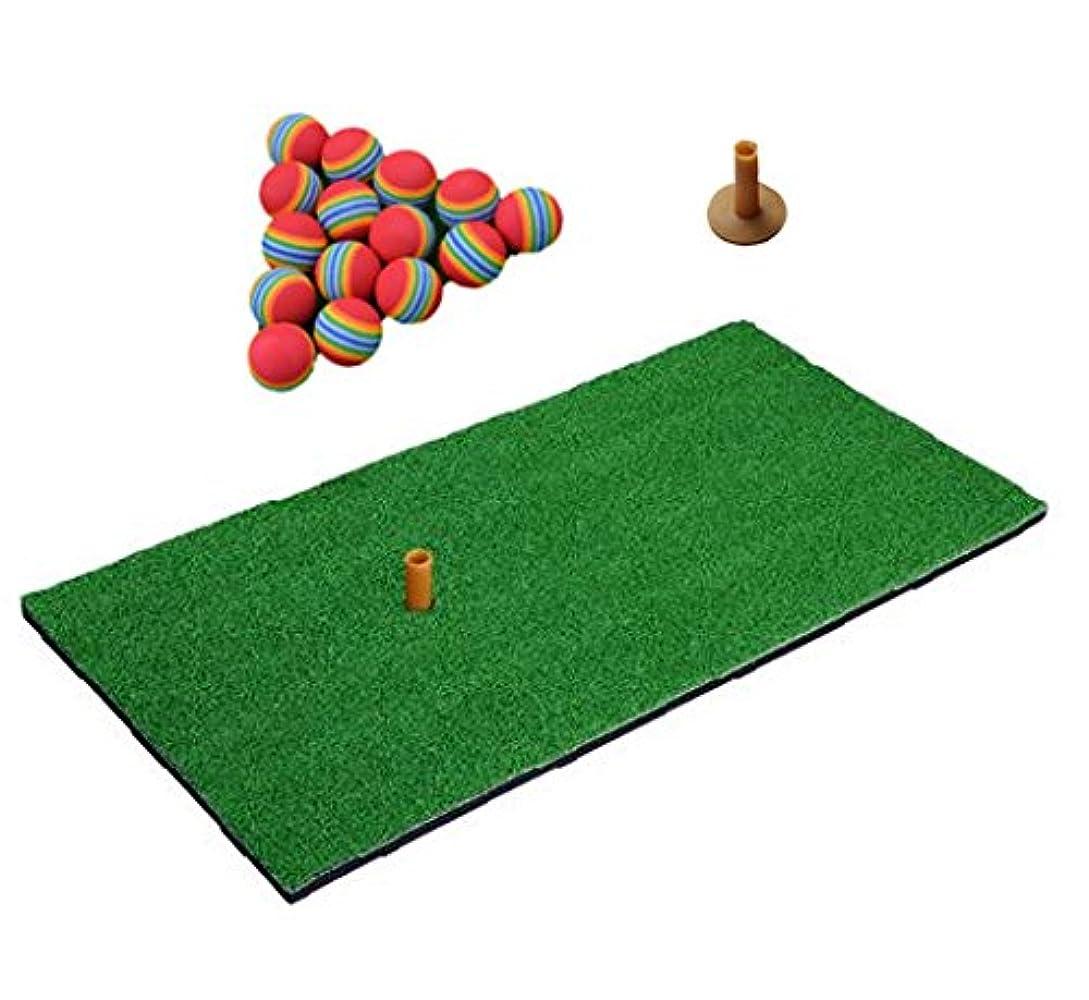 唯物論競う指定するゴルフ練習用マット ウレタンボール30個付 自宅 室内 練習用 人工芝 ゴルフ マット 30×60㎝