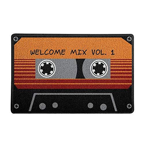 Capacho Welcome Mix Beek Geek'S Stuff Preto 60X40Cm