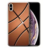Stuff4® Gel TPU Hülle/Hülle für Apple iPhone XS Max/Basketball Muster/Sport Bälle/Ball Kollektion