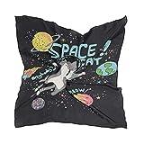 ALARGE Bufanda cuadrada de seda para galaxia, espacio animal, protector solar ligero y suave, bufandas de cuello, para mujeres y niñas