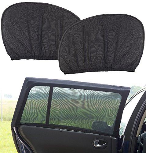 Lescars Blendschutz: 2er-Set Universal-Überzieh-Sonnenschutze für Auto-Seitenscheiben (Universal Sonnenblende Auto)