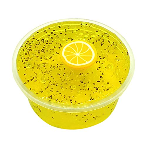 Fruits 60ml Lemon Squishies Mud Slime Putty Scented Stress Clay Sludge Toy