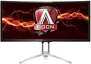 AOC Agon AG352UCG 35� Curved Gaming Monitor, G-SYNC, WQHD (3440x1440), VA Panel, 100Hz, 4ms, Height Adjustable, DisplayPort, HDMI, USB 3.0 (Renewed)