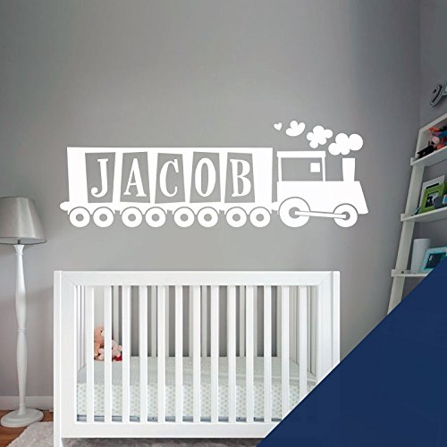 Train, Tank Engine - Boys Bedroom Custom Name Wall Art Sticker - [ Just message us with the name! ] by Wall Designer