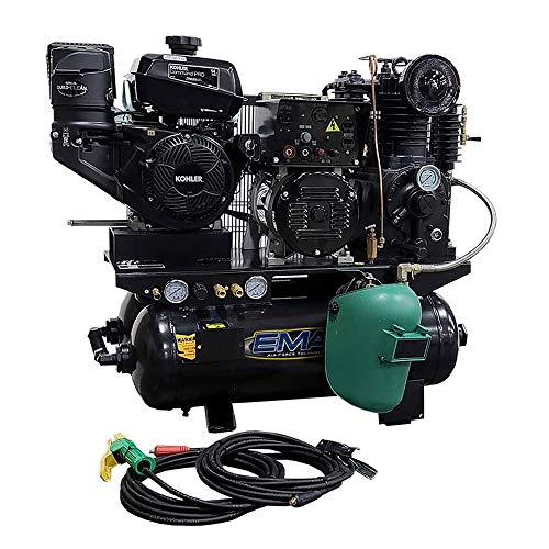 EMAX EGES14020T 14 HP 20 Gallon Horizontal Stationary Air Compressor/Generator/DC Welder