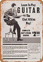 Shimaier 30×40cm 金属ブリキ看板ホーム装飾壁アート 1970 Play Guitar Like Chet Atkins
