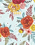 2021 Monthly Planner: 2021 bigger Square planner   12-Month Planner & Calendar with holiday with password log Size: 8.5' x 11' ( Jan 2021 - Dec 2021). ... Project Notebook Flower Watercolor design