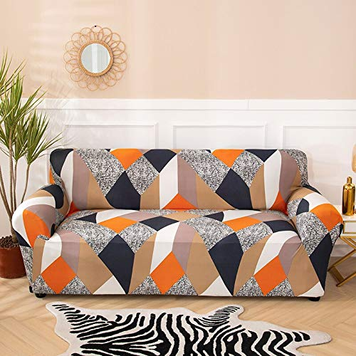 WXQY Living room geometric stretch sofa cover modern section corner sofa cover chair protection cover sofa cover A7 1 seater