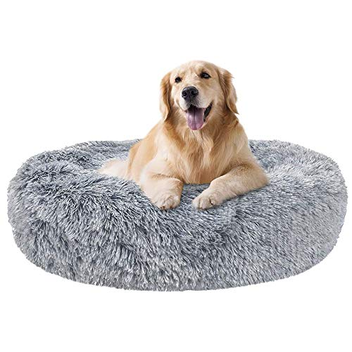 Calming Dog Beds for Large Dogs Faux Fur Orthopedic Self-Warming Washable...