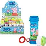 ColorBaby - Pack 36 pomperos Peppa Pig, pomperos para niños, pomperos baratos, bote pompas de jabón, juguete burbujas jabón, 60 ml, 3+, varios colores, 36 unidades
