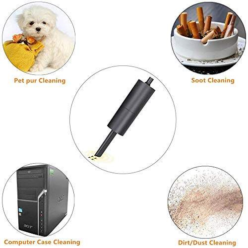 CLII Wireless-Handstaubsauger, Staubsauger/Gebläse Kombination Mini-USB-Lade Schnellen Ladetechnik, Licht Haustier Tierhaare Staubsauger Autos,Schwarz