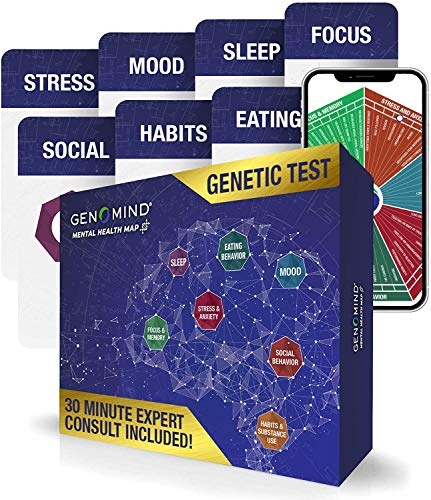 Genomind Mental Health Map: Genetic DNA Test Including Mental Health Predispositions and Wellness Trait Reports
