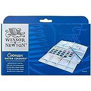 Winsor & Newton Cotman Water Colour Paints - 24 Half Pans
