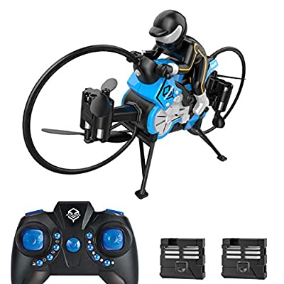H18 Mini Drone for Kids,RC Motorcycle Drone with Auto Hovering and Double Batteries,Durable Quadcopter with More Spare Propellers and 2PCS Landing Skid for Replacement,Durable Kids Toy for Boys