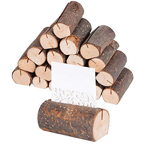 SERWOO 20 Stück Holz Holzsteg Platzkartenhalter Bild