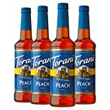 Torani Sugar Free Syrup, Peach, 25.4 Ounces (Pack of 4)