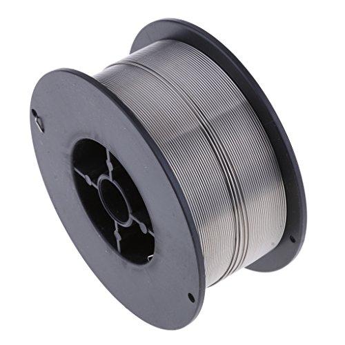 D DOLITY 1 Rollo de Hilo de Soldadura Mig (1 kg) Cable Mig sin gas de uso General para Soldadura Electrónica - Plata-0.8mm
