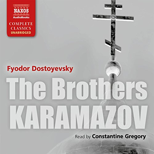 The Brothers Karamazov [Naxos AudioBooks Edition]                   Written by:                                                                                                                                 Fyodor Dostoyevsky,                                                                                        Constance Garnett - translator                               Narrated by:                                                                                                                                 Constantine Gregory                      Length: 37 hrs and 4 mins     51 ratings     Overall 4.7