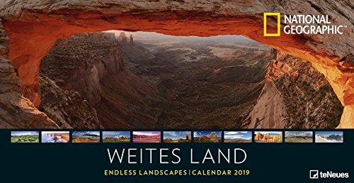 Weites Land 2019 - National Geographic Fotokalender, Posterkalender 2019, Landschaftskalender, Panoramaformat - 64 x 33 cm