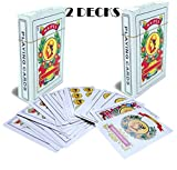 Liliane Collection Spanish Playing Cards - 2 Full Decks with 50 Cards - Smooth Plastic Coated Cards – cartas Barajas o Naipes Espanoles in a Beautifully Artistic Traditional Design