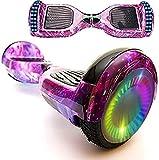 """Magic Vida Hoverboard - 6,5"""" - Bluetooth - Moteur 700 W - Vitesse 15 km/h - LED - Skateboard Électrique Auto-Équilibré - Pour enfants et adultes - Violet Galaxy"""