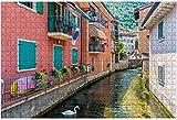 500 piezas-Idyllic View at Cassone di Malcesine Hermoso pueblo en el lago de Garda rompecabezas de madera DIY niños rompecabezas educativos regalo de descompresión juegos creativos juguetes Puzzles