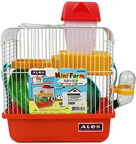 LITINGT Jaula para Conejos para Interior, Doble Capa, portátil, para Animales pequeños, Jaula para Mascotas, Nido para Conejillos de Indias, para Conejillos de Indias y hámsteres, 30 * 24 * 18 cm (c