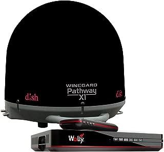 Winegard PA2035R Pathway X1 Automatic Portable Truck Satellite TV Antenna with DISH Wally Receiver Bundle (Trucking Satellite Antenna, Optional Mounts) - Black