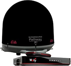 Winegard PA2035R Pathway X1 Automatic Portable Truck Satellite TV Antenna with DISH Wally Receiver Bundle (Trucking Satellite Antenna, Optional Mounts) - Black