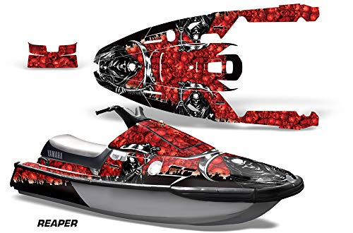 AMR Racing Jet Ski Graphics kit Sticker Decal Compatible with Yamaha WaveRunner III 1991-1996 - Reaper Red