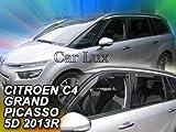 Car Lux AR00244 - Derivabrisas Deflectores de Aire Cortavientos de Viento Delanteros y Traseros para C4 Grand Picasso a Partir de 2013-