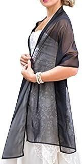 Châle Écharpe Étole chiffon Femme Mariage sur Robe de Soirée Mariée en noir