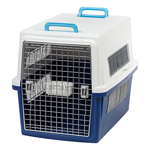 IRIS USA, Inc.. ATC-870 Pet Travel Carrier, Large, White/Navy