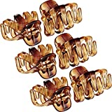24 Pack 3 cm Mini Grip Octopus Clip Spider Jaw Hair Claw Clips (Brown)