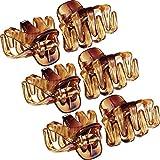 24 Pièces3 cm Mini Grip Octopus Griffe de Cheveux Araignées Clips (Marron)