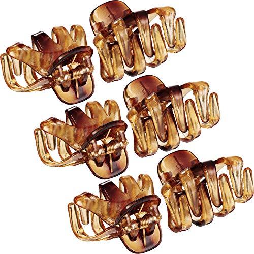 24 Piezas 3 cm Mini Grip Clip de Pulpo Pinza de Pelo de Araña (Marrón)