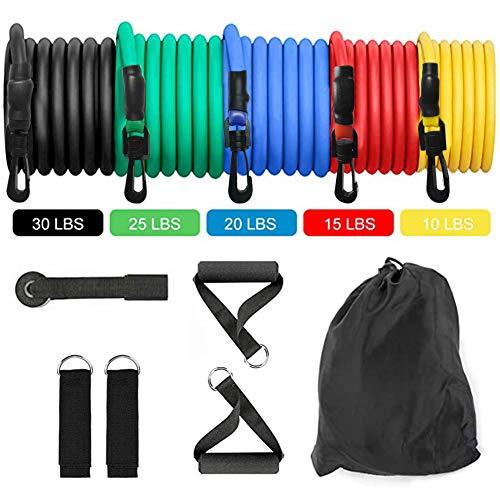 ulofpc 11 Stück Zugseil-Set Elastic Tube Resistance Trainingsgeräte Fitnessgeräte Pull Piece Pull Belt Indoor- und Outdoor-Trainingszubehör