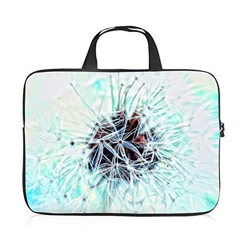 BEEARKI Laptop-Taschen 17 in Water Repellent Samt für MacBook/Acer/Toshiba/Thinkpad/Dell/Huawei/Asus/Lenovo, Flower Gedrucktes Musterdesign Tragen Notebook-Handtaschen with Reißverschluss