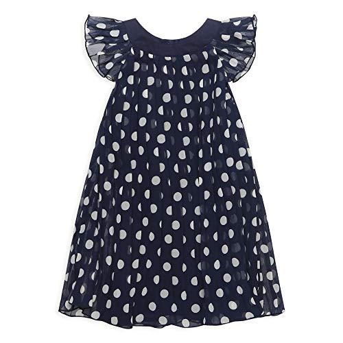 ESPRIT KIDS Mädchen RQ3010302 Woven Dress SS Kleid, Blau (Midnight Blue 485), (Herstellergröße: 116+)