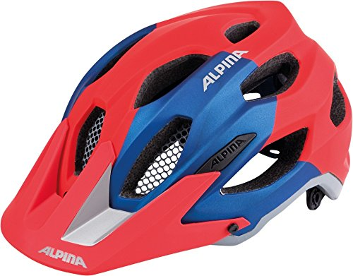 ALPINA Erwachsene Carapax Fahrradhelm, red-Blue, 57-62 cm