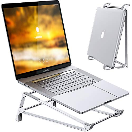 Vertical Stand Holder, Ergonomic Vertical Laptop Stand for Desk Compatible with MacBook, Surface, Dell, Lenovo, and Other 10-17 inch Desktop Premium Aerometal Ventilated Riser, Betidom 2 in 1 Design