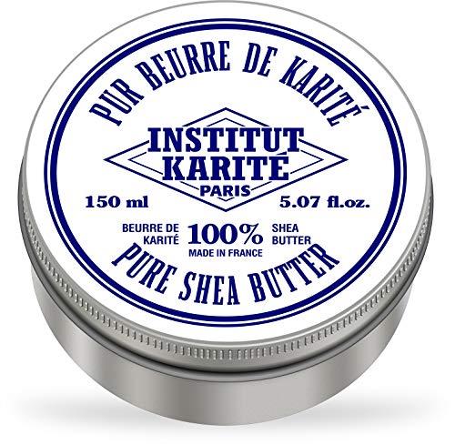 Institut Karité Paris – 100% Pur Beurre de Karité Sans parfum 150ml – Produit naturel pour cheveux, corps et visage – Pure Shea Butter for body, face and hair