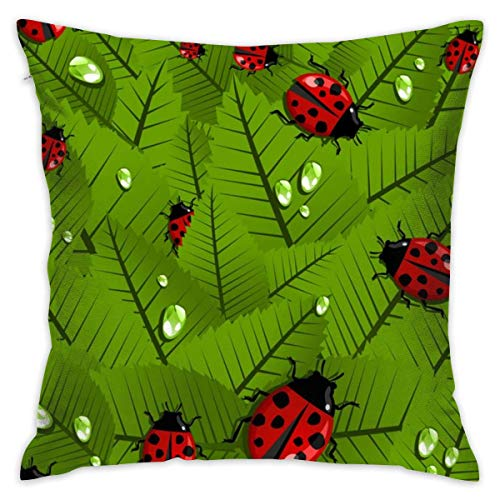 EU Adorable Ladybug Funda de cojín Decorativa Throw Pillow Cover 18'x 18' 45cm x 45cm