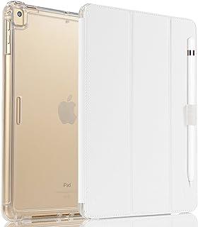 Vanctec para iPad Air Funda iPad Air 2 Case iPad Pro 9.7 Cover Nuevo iPad 2017 Folio Smart Stand Protector Heavy Duty Rugged Impact Resistant Armor Funda con Apple Portalápiz Blanco