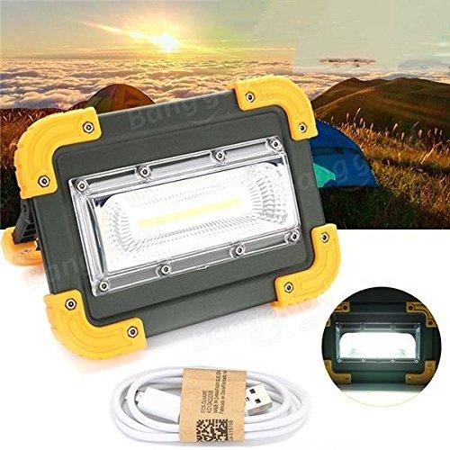 Bazaar 30 Watt Portable USB Wiederaufladbare COB LED Camping Licht Outdoor Arbeit Spot Licht für Angeln Wandern