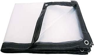 Tarps ZR Tarpaulin,Transparent Diaper,Waterproof Sunscreen Plastic Cloth,Outdoor Balcony Dust-Proof Awning Cloth,Thick Tarpaulin -Anti-Sunlight Exposure
